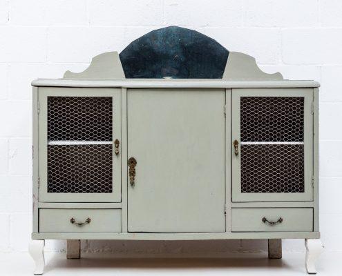 aparador vintage color verde elegante estilo romantico vintage