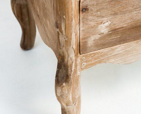 comoda sinfonier de madera lavada estilo afrancesado