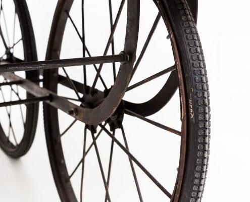 carro con ruedas estilo provenzal para eventos y bodas