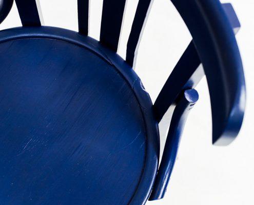 silla bistro vintage de madera color azul
