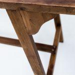 mesa de madera acabado lavado estilo nordico