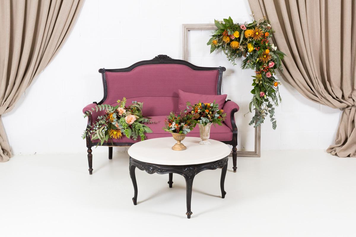 Muebles estilo romantico cool rincon con sofa de dos for Muebles de estilo romantico