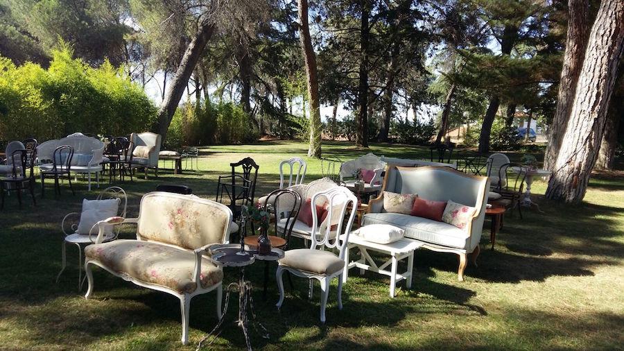 Mobiliario Romántico Bodas - Sillones Memorias del Ayer