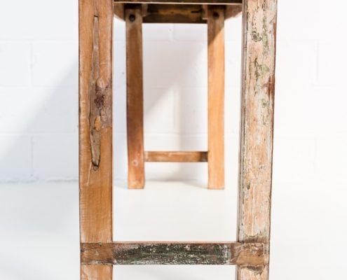 consola de madera estilo industrial vintage