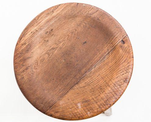 taburete alto de madera estilo rustico vintage
