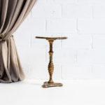 mesa-mesita-auxiliar-baja-pequena-dorada-verde-vintage-romantica