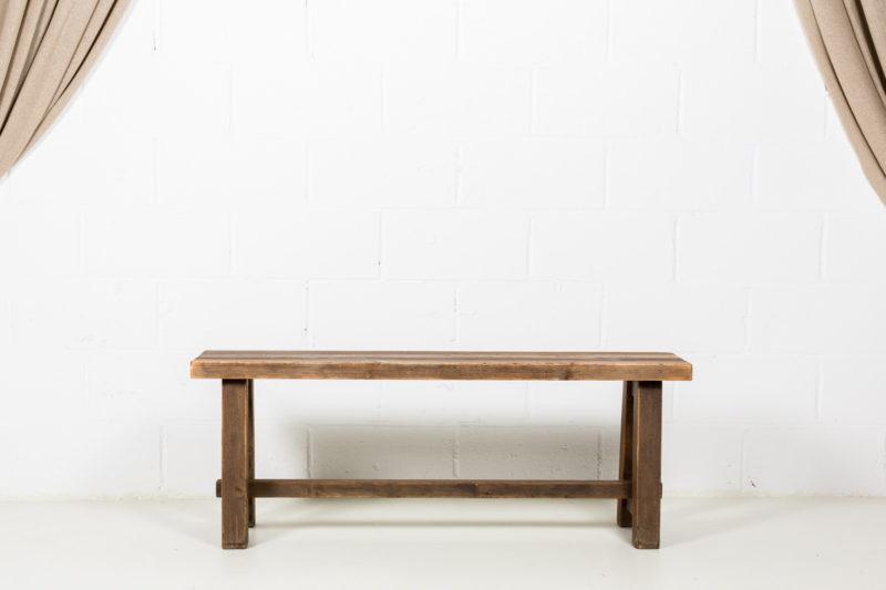 Banco de madera rustico01