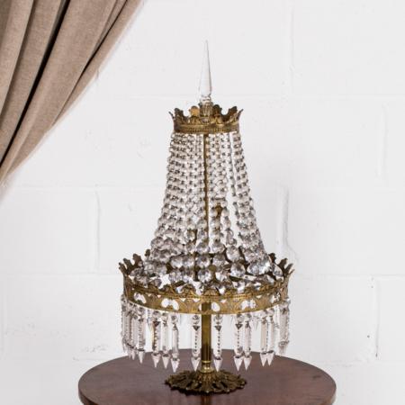 Lámpara sobremesa mil cristales 07